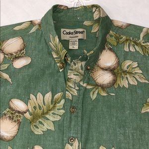COOKE STREET HONOLULU Aloha Shirt Ulu, Ipo Sz L